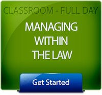 Get Started with Managing Within the Law Classroom Training